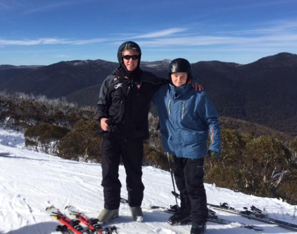 Skiing with Luke