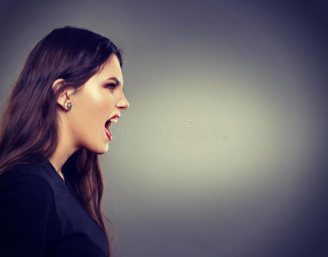 screaming woman